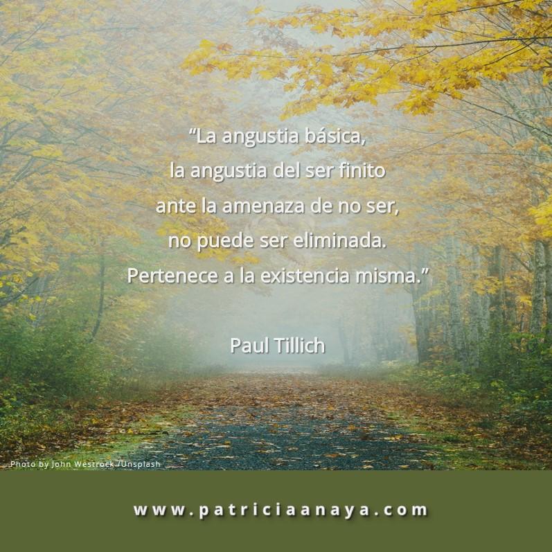 ANGUSTIA     Paul Tillich