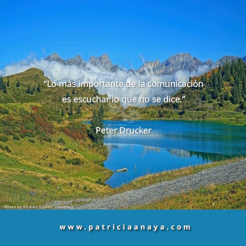 LO QUE NO SE DICE  |  Peter Drucker