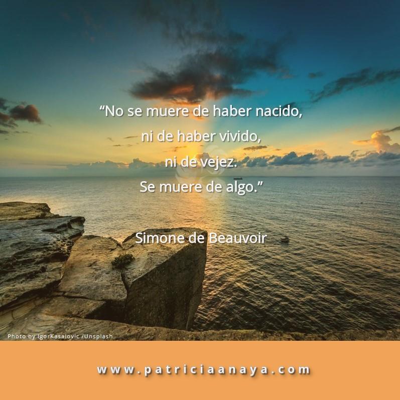 SE MUERE DE ALGO  |  Simone de Beauvoir